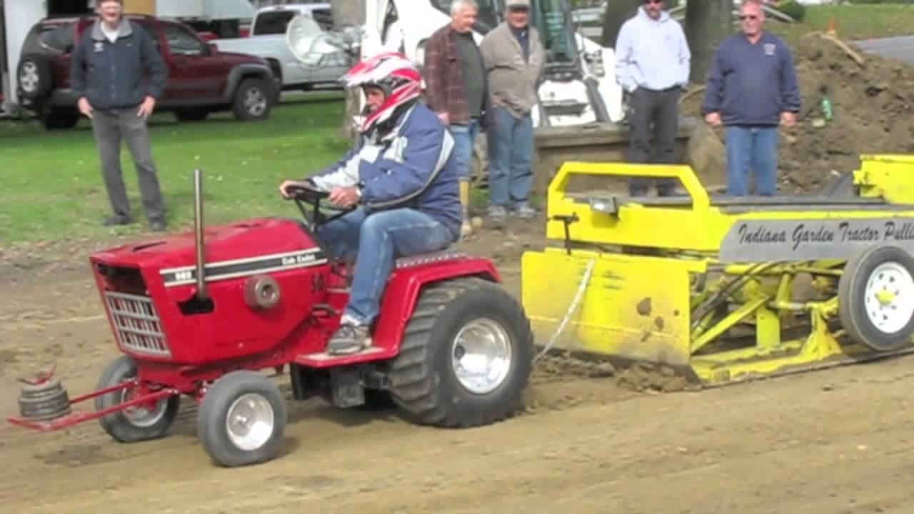 Garden Tractor Pull October 2012 Trafalgar Indiana Youtube