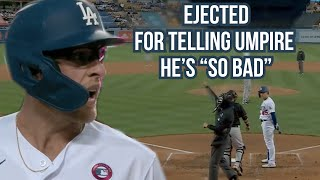 Matt Beaty gets ejected for telling the ump he's bad, a breakdown