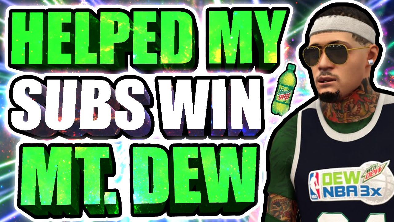 I HELPED MY SUBSCRIBERS WIN THE MT. DEW TOURNAMENT • 3 TIME MT. DEW WINNER • WE GOT UNLIMITED BOOSTS