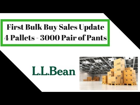 Update on my First Whole Sale / Bulk Buy - 3000 Pair of LL Bean Pants