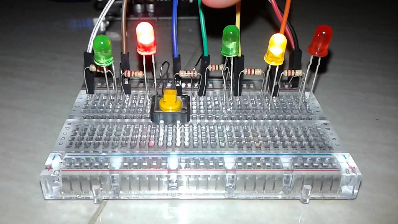 Proyek arduino lampu lalu lintas advanced youtube
