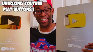 Verbal Ase - Unboxing Youtube Play Buttons (warning: emotional)