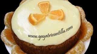 Orange Cake - Eggless - Indian Recipes - Telugu Ruchulu