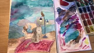 Fantasiamaiseman maalaaminen