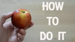 HOW TO PROPERLY CUT A NECTARINE 🍑