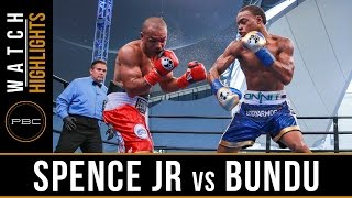 Spence Jr. vs Bundu HIGHLIGHTS: August 21, 2016 - PBC on NBC
