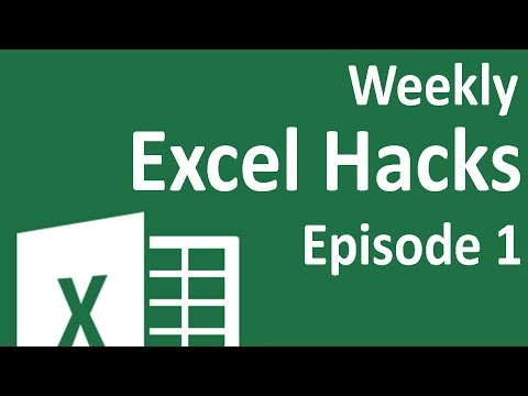 Weekly Excel Hacks - Episode 01 - Repeat Task/Quick Dates/Colorindex