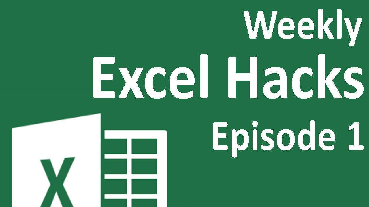 Weekly Excel Hacks   Episode 20   Repeat Task/Quick Dates/Colorindex