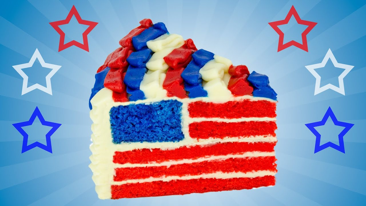 American Flag Cake For The 4th Of July Dessert By Cookies Cupcakes