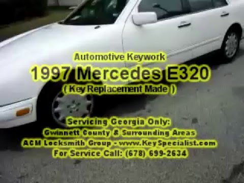 Locksmith Duluth GA: 1997 Mercedes E320 - Key Replacement Made!