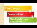 Fluid Mechanics: Fluid pressure [Pascals law | Hydrostatic law]