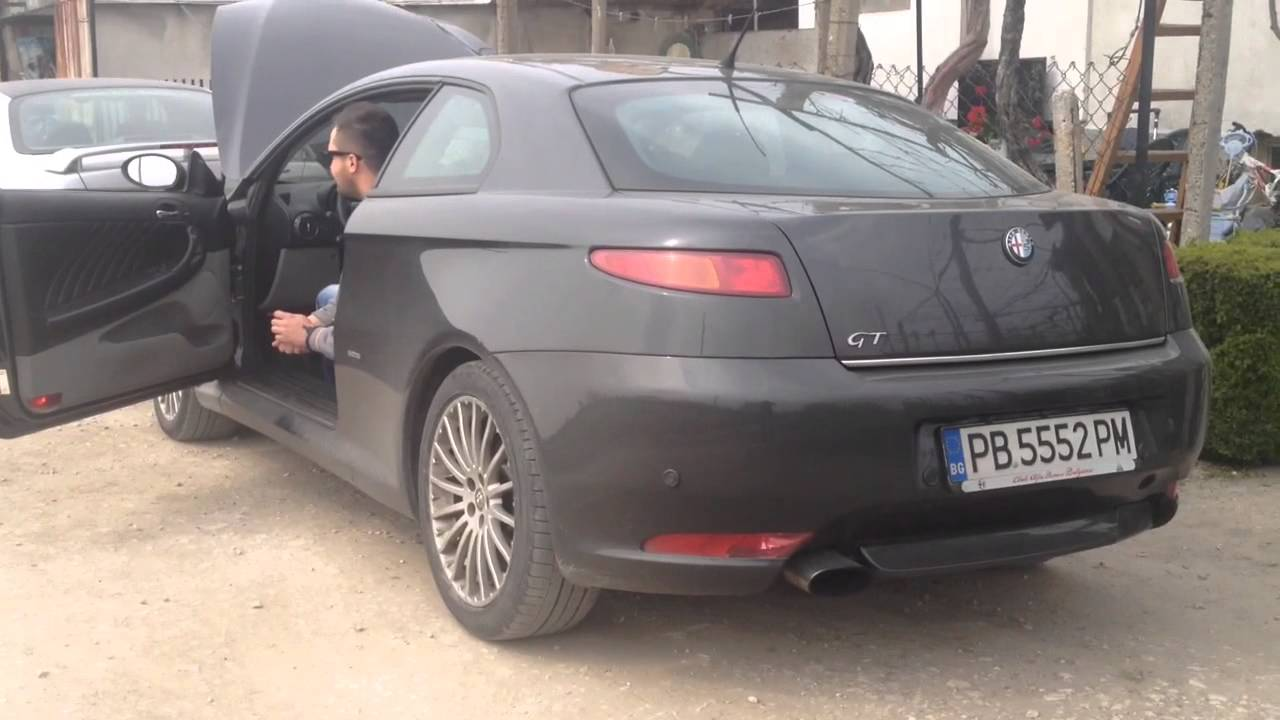 alfa romeo gt 1.9 jtd exhaust sound straight pipes - youtube