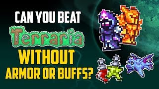 Can You Beat Terraria Without Armor or Buffs? | HappyDays