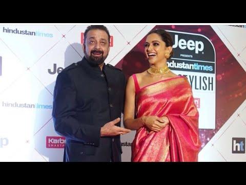 Padmaavat Actress Deepika Padukone Hugs Sanjay Dutt at HT Style Awards 2018  SpotboyE