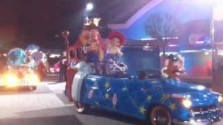 Disneys Stars n Cars by night time - New Year Eve