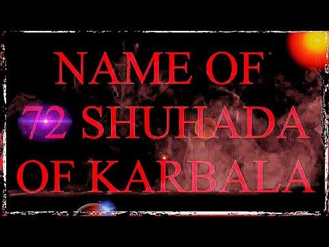 72 names of shaheede karbala!!!!