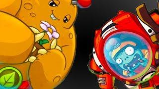 РАСТЕНИЯ против ЗОМБИ #4 - Plants vs. Zombies Heroes - игра про мультфильм #КРУТИЛКИНЫ #КИД