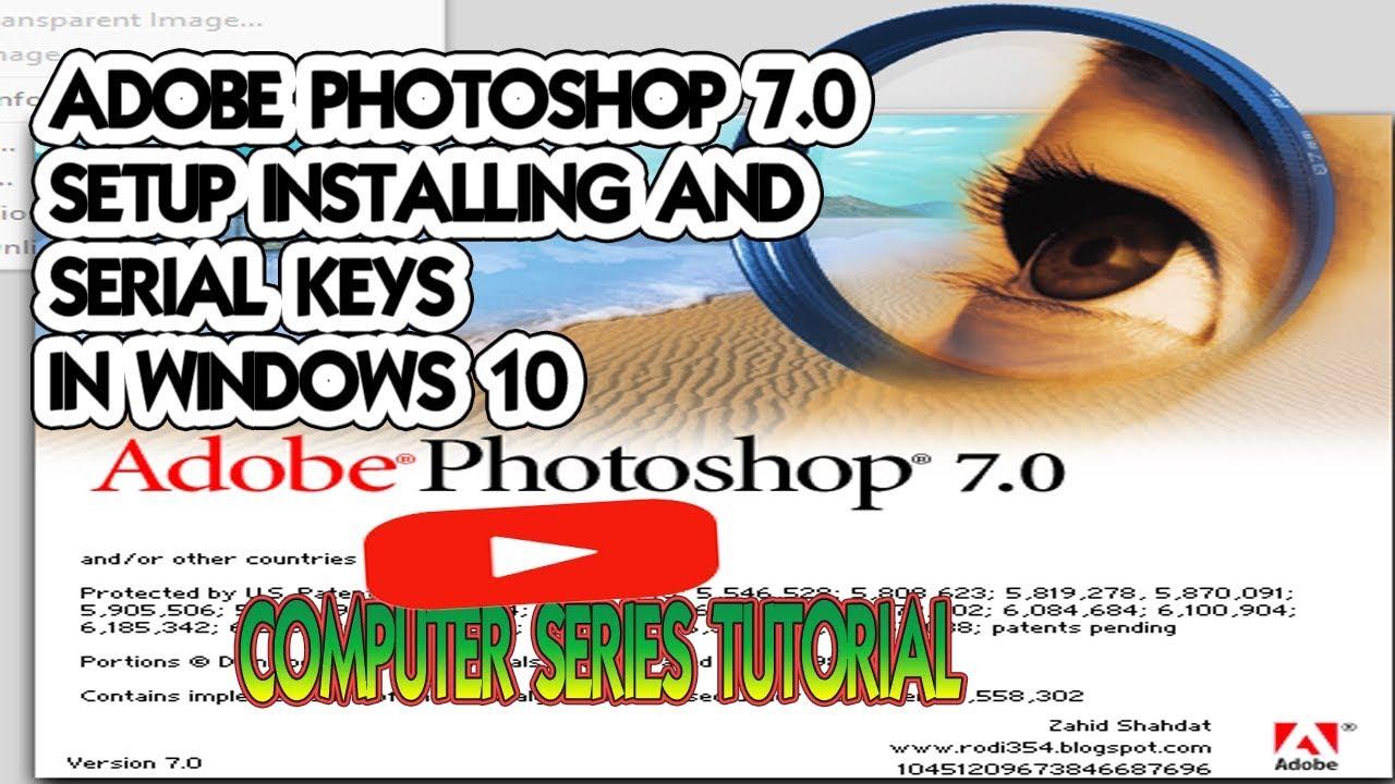 adobe photoshop 7.0 setup for windows 10