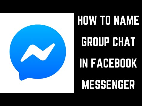 How To Name Group Chat In Facebook Messenger