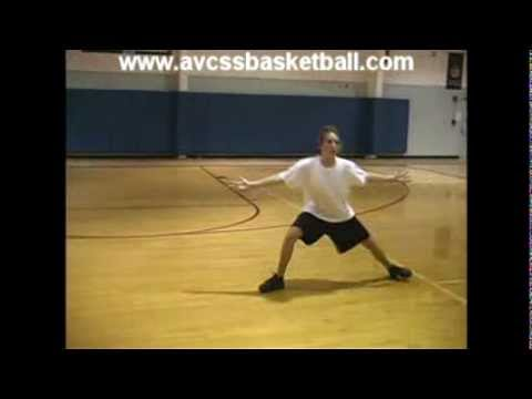 Basic Step Slide with Slow Motion Example - Youth Basketball