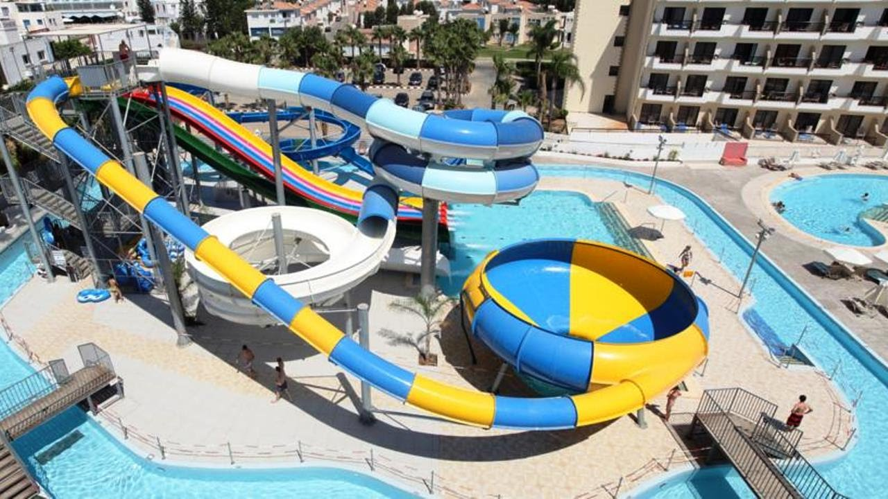 Top10 Hotels with Water Slide or Aqua Park in Cyprus - YouTube