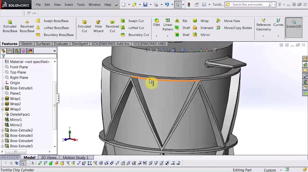 Solidworks Wrap With Pi Youtube