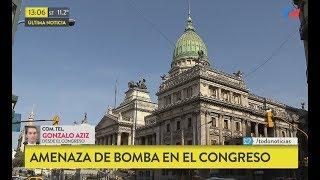 Amenaza de bomba en el Congreso de la Nación