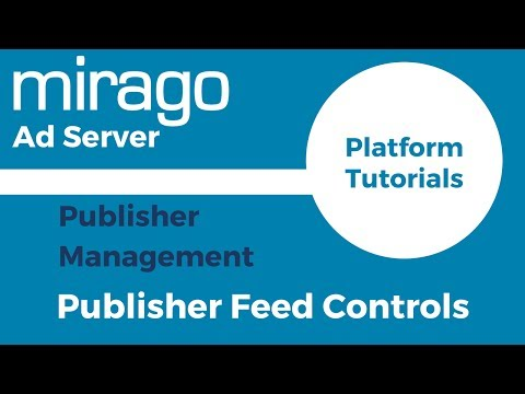 Publisher Feed Controls