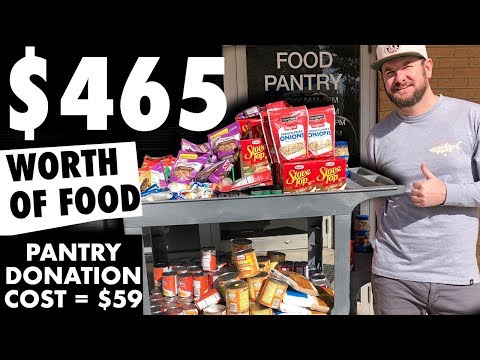 HUGE FOOD BANK DONATION! Almost $500 worth of food! My cost? $59! Penny Shopping + DG Clearance