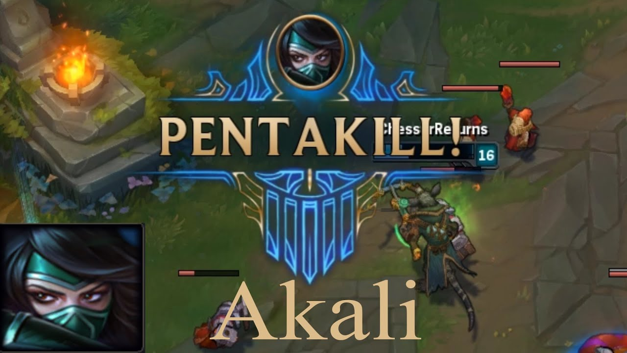 First Pentakill Akali - League of Legends