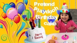 The Real Funny Pretend Play Doh Birthday Cake with Toppings