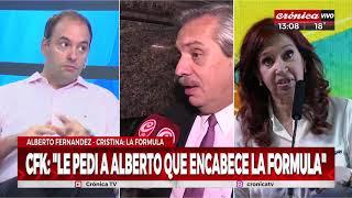CFK candidata: Nos visitan Federico Gonzáles y Manuel Adorni