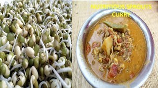NUTRITIOUS FOOD - SPROUT CURRY - HEALTHY VILLAGE FOOD