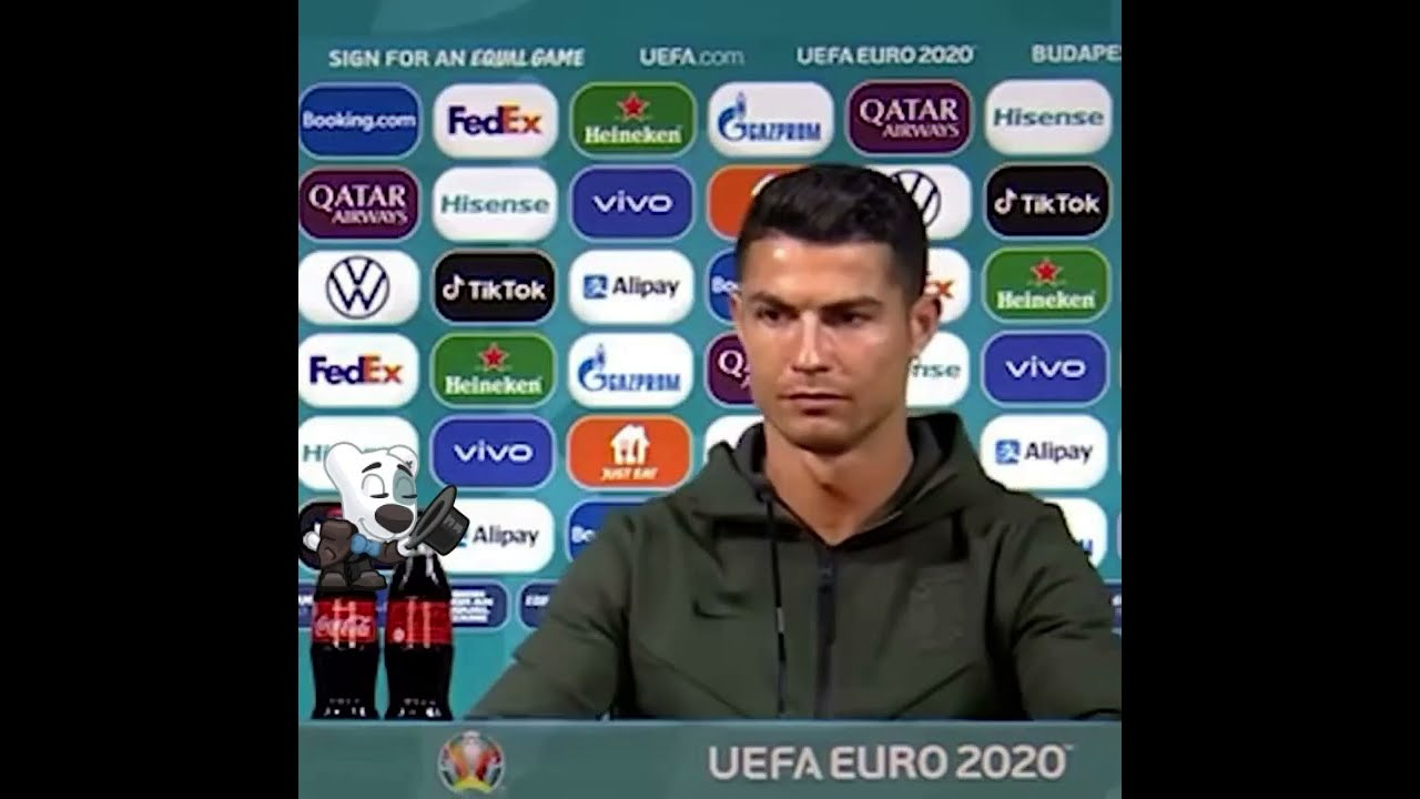 Cristiano Ronaldo odia la coca cola ,las retiro en una entrevista EURO