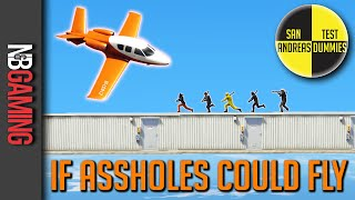 gta5 if assholes could fly san andreas test dummies ep 53 gta5 funny moments and stunts
