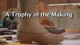 Turning A Block Of Wood Into An L.l.bean Boot Trophy