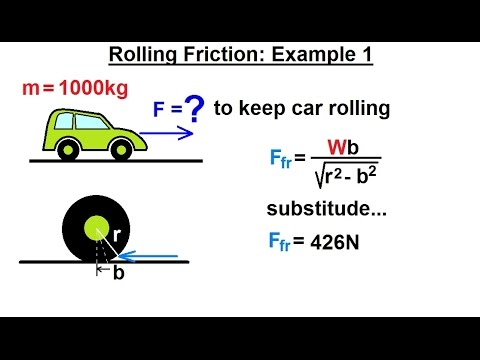 Mechanical Engineering: Ch 11: Friction (45 of 47) Rolling ...