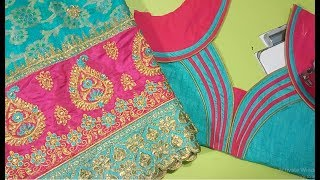 New fancy saree model blouse/ For diwali