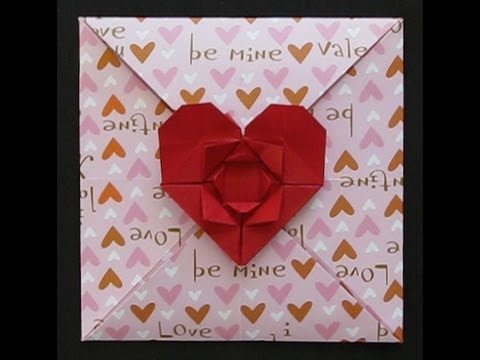 origami valentine's day card - youtube, Ideas