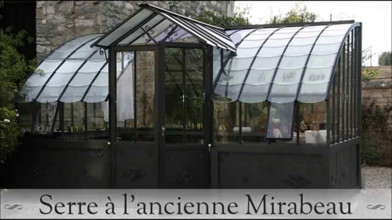 Serre en verre l 39 ancienne mod le mirabeau youtube for Serre en verre de jardin