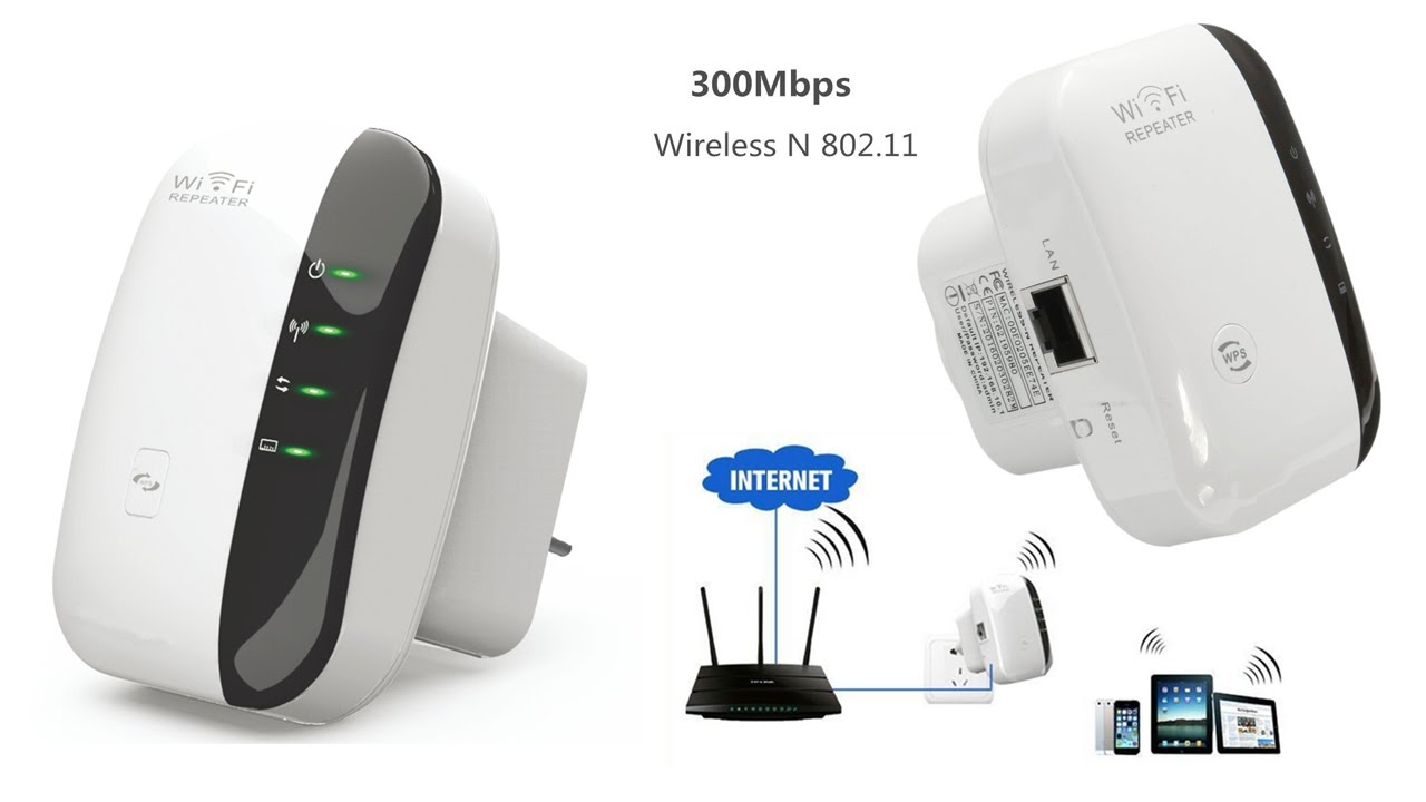 300M Wireless-N Wifi Repeater Router Signal Booster Extender Amplifier