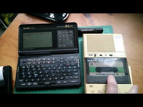 Playing with: Sharp IQ-8400, CE-50P and Grundig DCR001