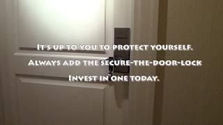 Secure The Door Lock | Portable Unbreakable Travel Lock