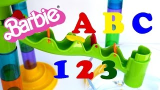 alphabet letters qrs tuv with barbie part 7