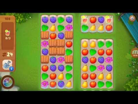 Как пройти уровень 108 в игре gardenscapes