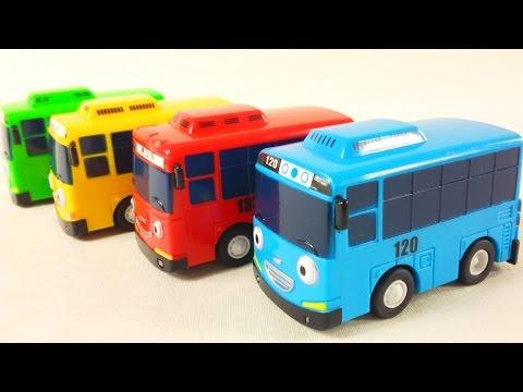 Переезд автобусов Тайо. Видео про игрушечные машинки