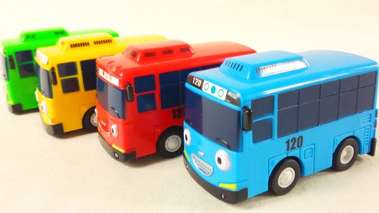Tayo Bus toy crane construction site video for children - YouTube