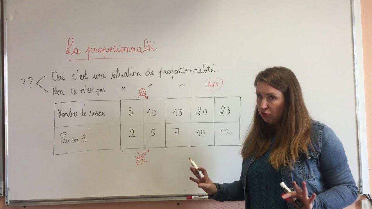 Proportionnalité CM1 et CM2 Exercice 3 + correction - YouTube