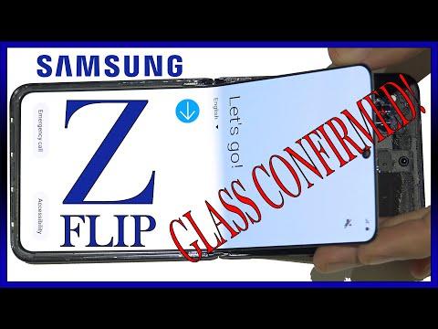Samsung Galaxy Z Flip Screen Plastic Glass Teardown Hinge Review. Glass Confirmed!