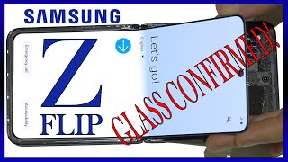 Samsung Galaxy Z Flip Screen Plastic Glass Teardown Hinge Review. Glass Confirmed!